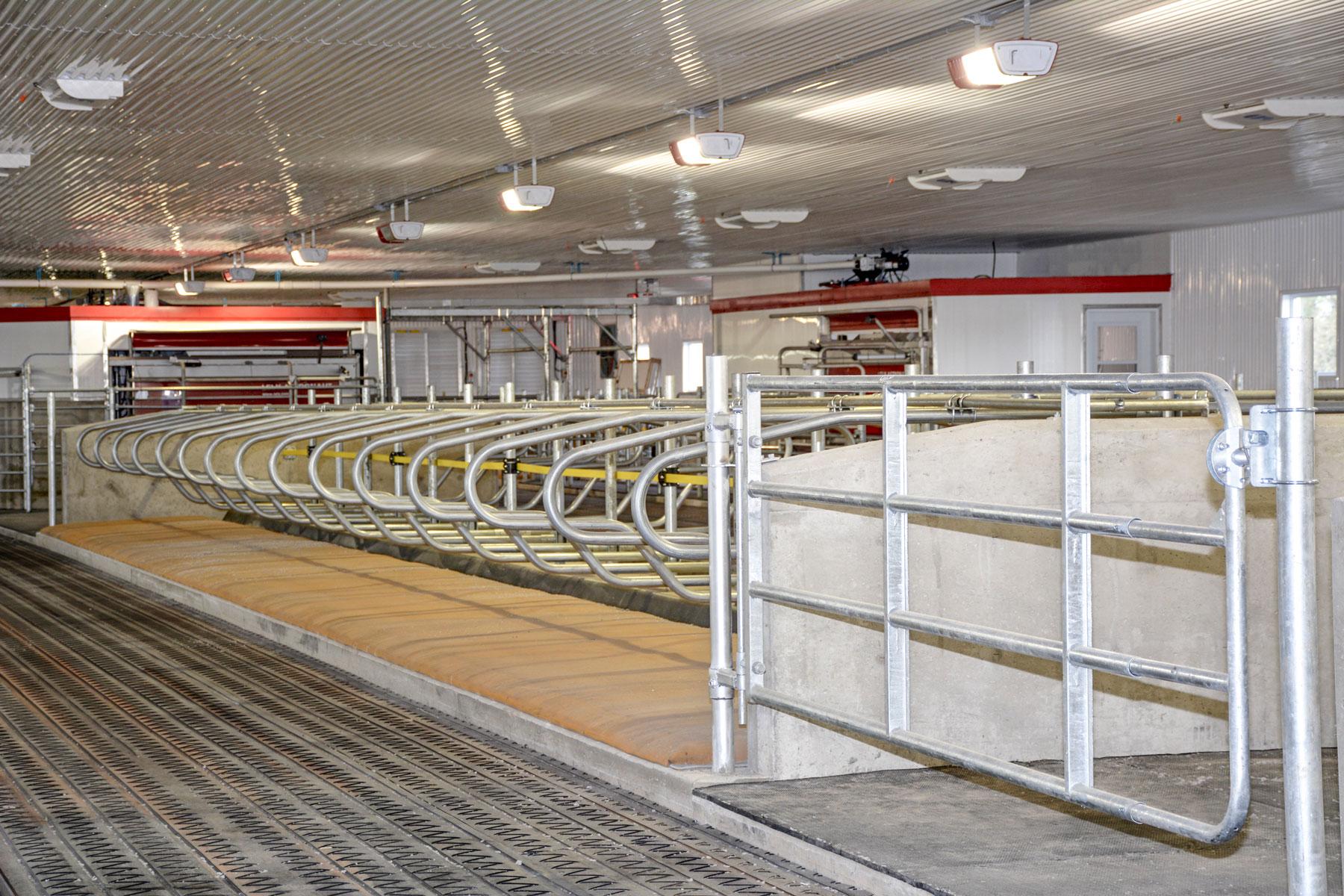 installation agricole barrière et logette / Équipements PFB