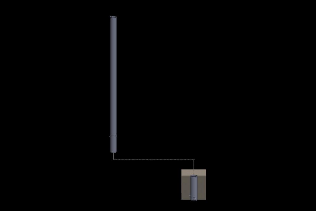 poteau amovible pour installation agricole - stabulation / Équipements PFB