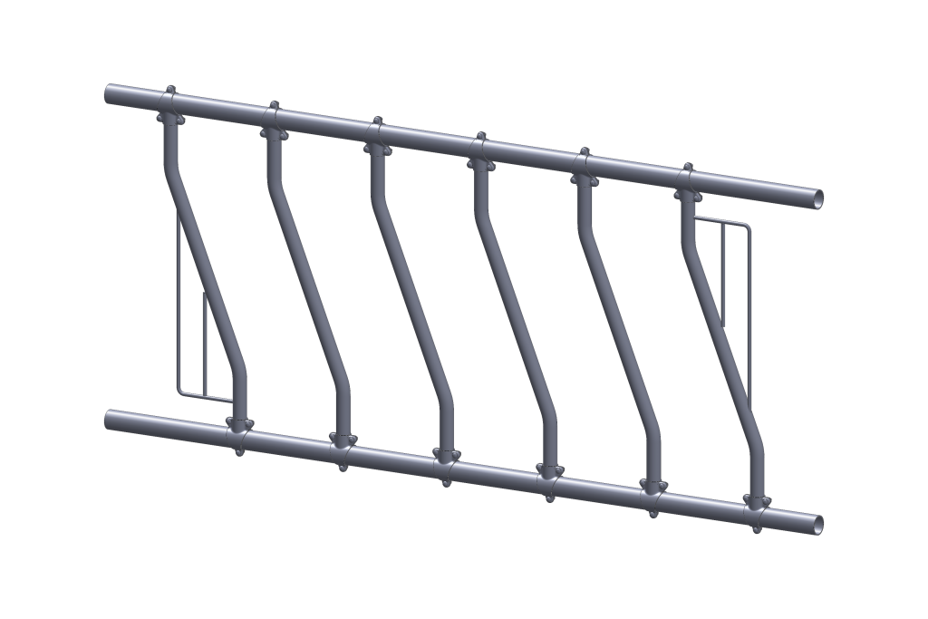 mangeoire diagonale pour installation agricole - stabulation / Équipements PFB