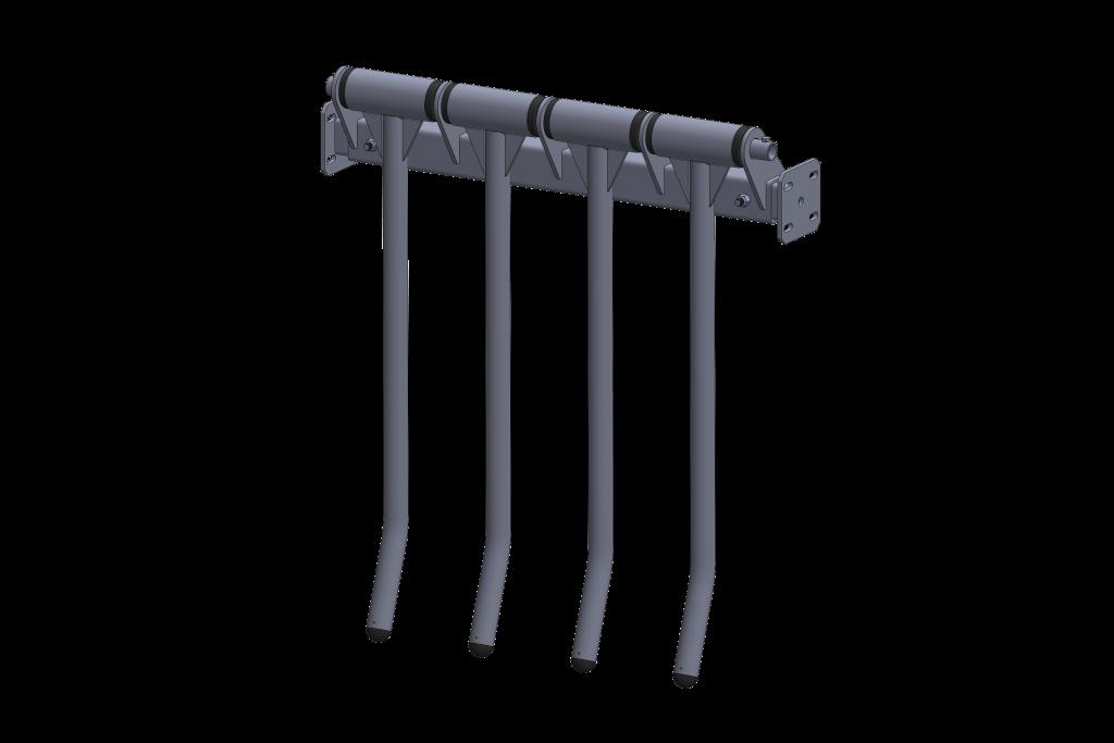 barrière de trafic unidirectionnel - finger gate - installation agricole - stabulation / Équpements PFB
